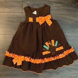 Bonnie Jean Thanksgiving Polka Dot Dress